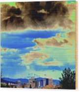 Strange Spokane Storm Wood Print