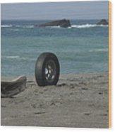 Strange Tire Ad Wood Print