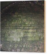 Strange Wall Marks Wood Print