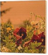Strange Weather/flourished Flower Wood Print