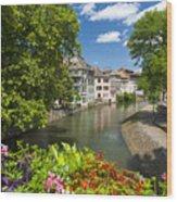 Strasbourg, Half-tmbered Houses, Petite France, Alsace, France Wood Print