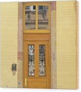 Strasbourg Door 03 Wood Print