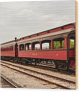 Strasburg Passenger Cars Wood Print