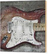 Strat Guitar Fantasy Wood Print