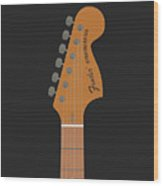Stratocaster Guitar Wood Print