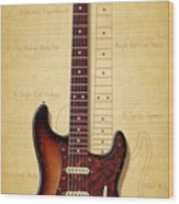 Stratocaster Illustration Wood Print