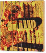 Stratocaster Strat Plus Lace Sensors Pop Art Wood Print