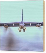 Stratofortress Leaving Color Wood Print