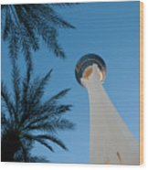 Stratosphere Tower Wood Print by Andy Smy