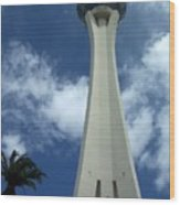 Stratosphere Tower Wood Print