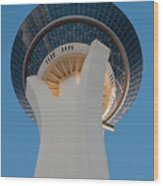 Stratosphere Tower Up Close Wood Print