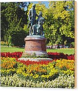 Strauss In Flowers Wood Print