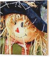 Straw Girl Wood Print