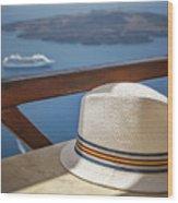 Straw Hat  Wood Print