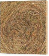 Straw Wood Print by Michal Boubin