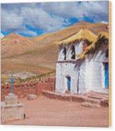 Straw Roof Machuca Church Wood Print