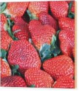 Strawberries 8 X 10 Wood Print