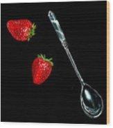 Strawberries Anyone Wood Print