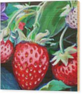 Strawberries Wood Print
