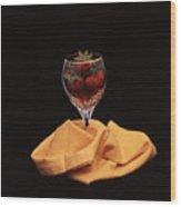 Strawberries In A Glass Wood Print