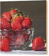 Strawberries In The Sun Wood Print