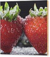 Strawberries Panorama Wood Print