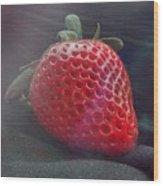 Strawberries Raise Wood Print