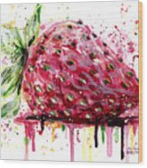 Strawberry 2 Wood Print