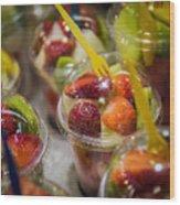 Strawberry Desert - La Bouqueria - Barcelona Spain  Wood Print
