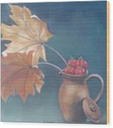 Strawberry Fall Wood Print