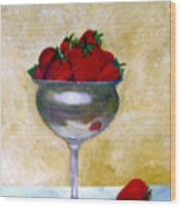 Strawberry Feast Wood Print