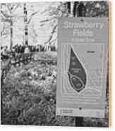 strawberry fields central park New York City USA Wood Print