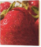 Strawberry Fun Wood Print