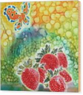 Strawberry Garden Wood Print