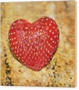 Strawberry Love Wood Print