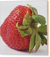 Strawberry Macro Wood Print