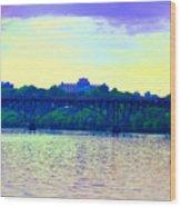 Strawberry Mansion Bridge Across The Schuylkill River Wood Print