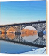 Strawberry Mansion Bridge  Wood Print