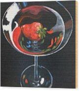 Strawberry Martini Wood Print