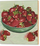 Strawberry Memories Wood Print
