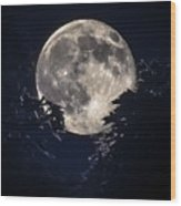 Strawberry Moon Wood Print