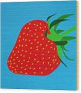 Strawberry Pop Wood Print by Oliver Johnston