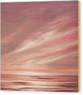 Strawberry Sky Sunset Wood Print
