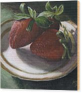 Strawberry Still Life Wood Print