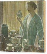 Strawberry Tea Set, 1912 Wood Print