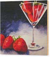 Strawberrytini Wood Print