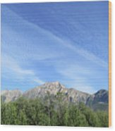 Streaked Sky Wood Print