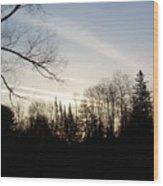 Streaks Of Clouds In The Dawn Sky Wood Print