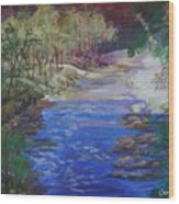 Stream At Yosemite Wood Print