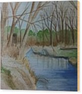 Stream For Chandler Wood Print